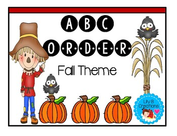 Fall ABC Order Worksheets