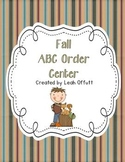 ABC Order-Fall Theme