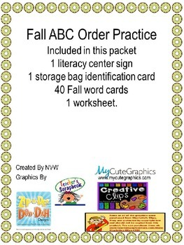 ABC Order - Fall themed
