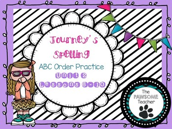 ABC Order First Grade Journeys Unit 2