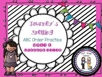 ABC Order First Grade Journeys Unit 3