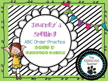 ABC Order First Grade Journeys Unit 4