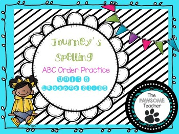 ABC Order First Grade Journeys Unit 5