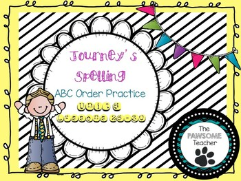 ABC Order First Grade Journeys Unit 6