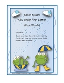 ABC Order First Letter ( Frog Theme)