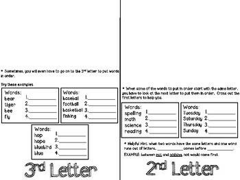 ABC Order Flip-Flap Booklet