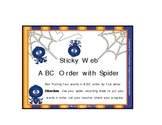 ABC Order Four Words First Letter / Spider/Halloween