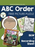ABC Order Picture Puzzles Center Activities FREE