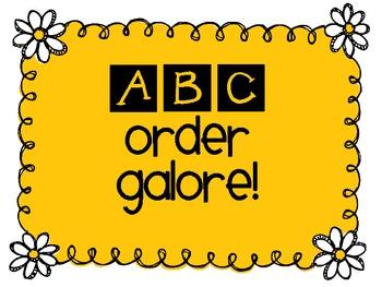ABC Order Galore $2 Sample