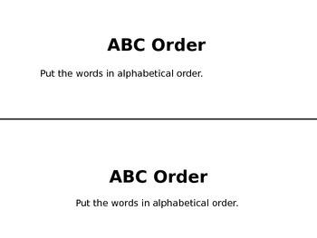 ABC Order Game