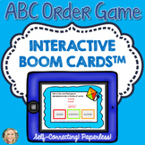 ABC Order Game, Boom Cards™, Grammar in Context, Alphabetizing