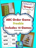 ABC Order Game Level 1 Freebie