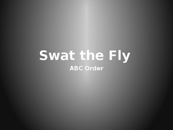 ABC Order Game - Swat the Fly