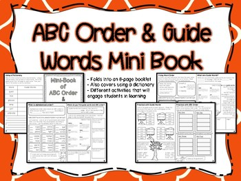 ABC Order & Guide Words Mini Book