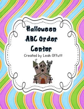 ABC Order-Halloween Theme