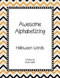 ABC Order- Halloween Words