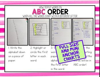 ABC Order Interactive Mini Notebook
