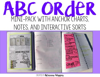 ABC Order Interactive Mini Notebook