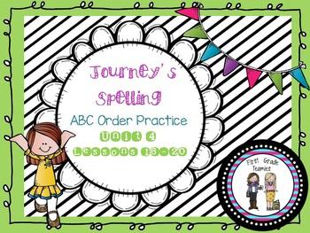 ABC Order Journeys First Grade Unit 4