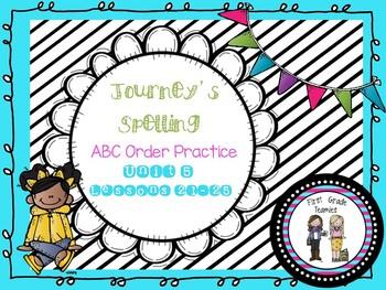 ABC Order Journeys First Grade Unit 5