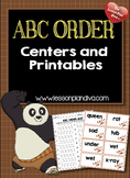ABC Order Centers and Printables