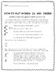 ABC Order Word List Template- great for spelling homework or practice in class!