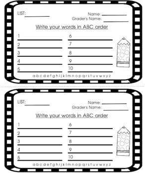 ABC Order Language Arts Center Freebie