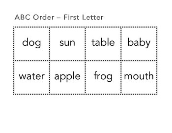 ABC Order Learn or Review
