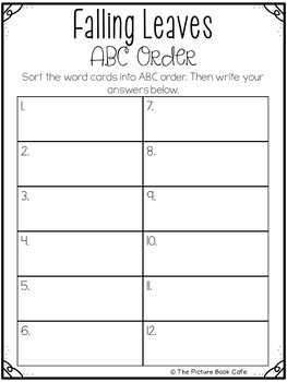 ABC Order-Leaves