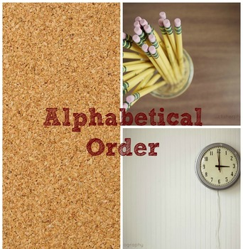 ABC Order Lesson and Practice