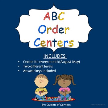 ABC Order Literacy Center-Differentiated (August-May)
