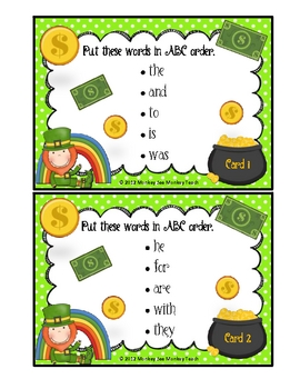 ABC Order  Luck of the Irish (Fry Words)