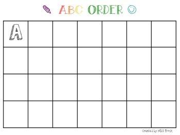 ABC Order Mat