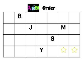 ABC Order Mats (5)