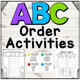 ABC Order Mega Pack: Activities for independent practice, homework, and centers