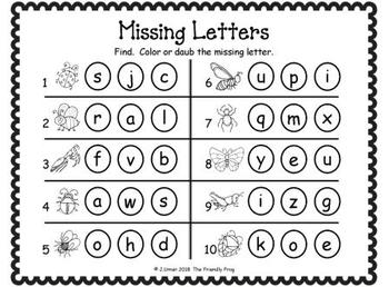 ABC Order: Missing Letters (May)