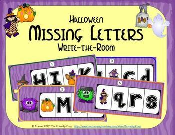 ABC Order: Missing Letters (October)