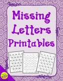 ABC Order: Missing Letters Printables | Distance Learning