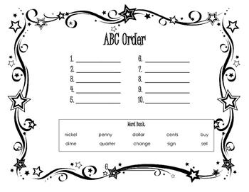 ABC Order - Money Words