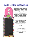 ABC Order- Monster Theme