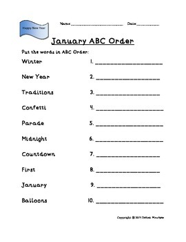 ABC Order (Monthly Themes)