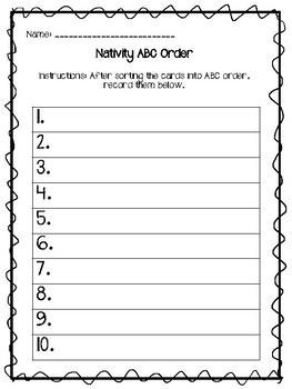 ABC Order Nativity