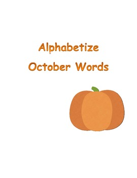 ABC Order ~ October Words