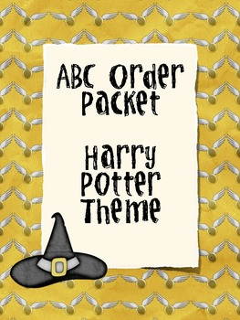 ABC Order Packet - Harry Potter Theme