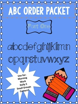 ABC Order Packet Part One!