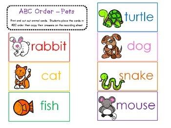 ABC Order Pets