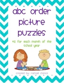 ABC Order Picture Puzzles