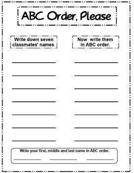 ABC Order, Please