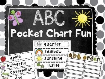 ABC Order Pocket Chart Center