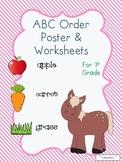 ABC Order Poster & Worksheets for 1st Grade